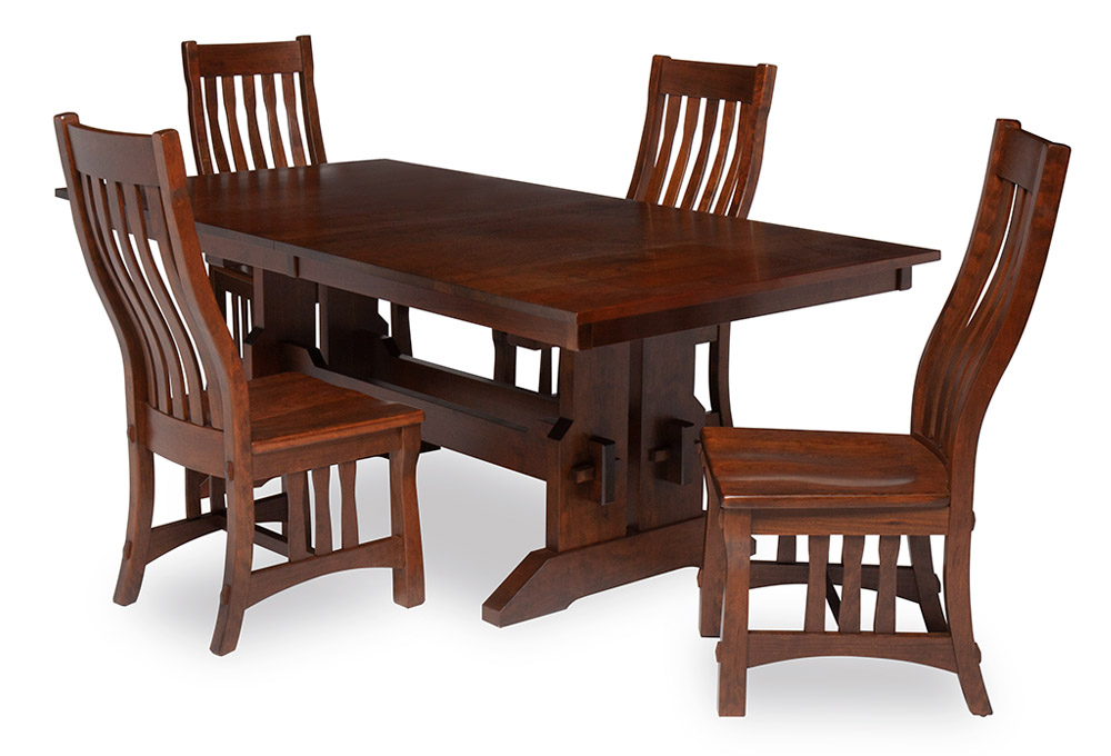 James Butterfly Wood Dining Table With Chairs