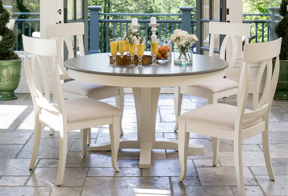 charlotte round wood dining table
