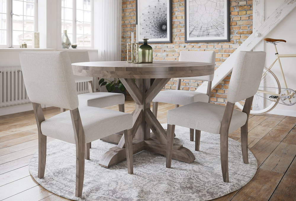 Finn Round Wood Table - Casual Dining & Barstools