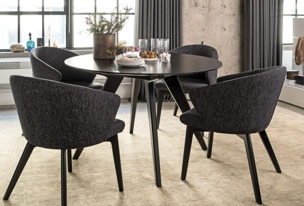 Lucas round dining table and chair