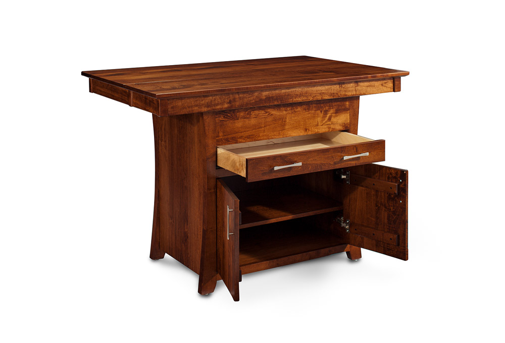 Miller island extension counter height table