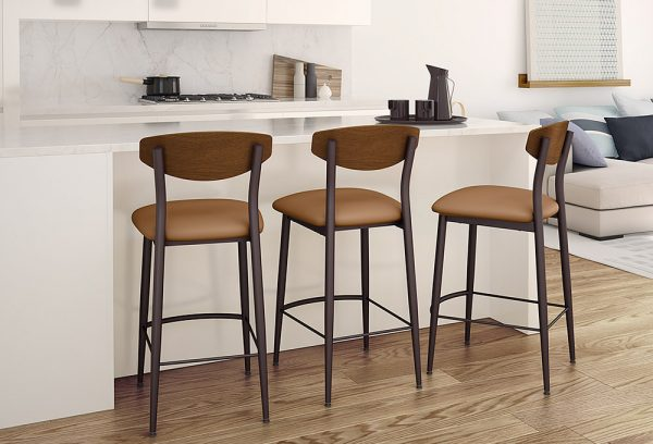 metal and wood barstools