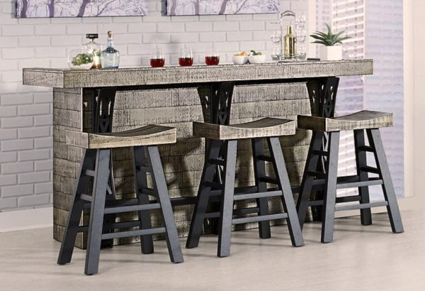 Brody 4 piece home bar set with stools