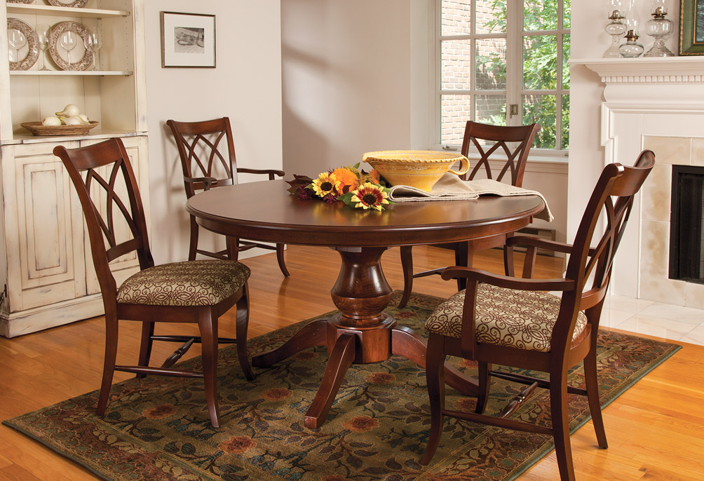juliette round wood dining table