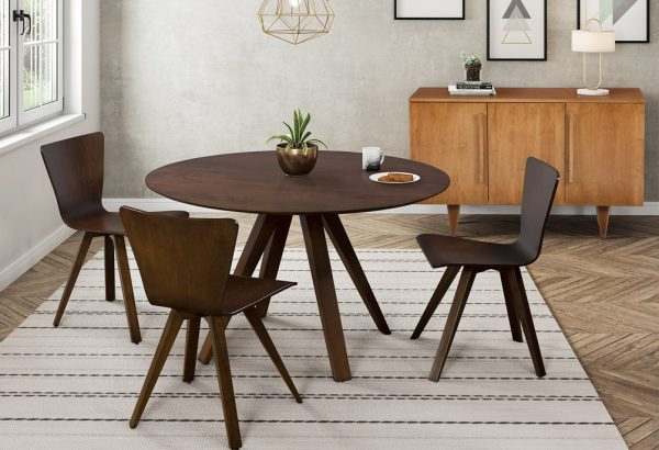 Miguel round wood dining table